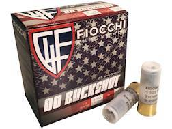 "Fiocchi Ammunition 12 Gauge 2-3/4"" 00 Buckshot 9 Pellets High Brass"