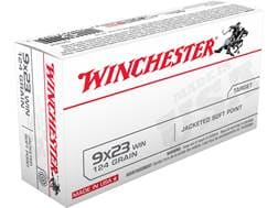 Winchester USA Ammunition 9x23mm Winchester 124 Grain Jacketed Soft Point