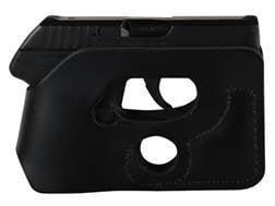 DeSantis Pocket Shot Holster Ambidextrous Kahr P380 Leather Black