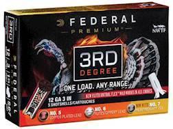 "Federal Premium 3rd Degree Turkey Ammunition 12 Gauge 3"" 1-3/4 oz #5, #6, and #7 Shot Multi Shot ..."