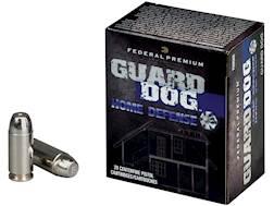 Federal Premium Guard Dog Home Defense Ammunition 45 ACP 165 Grain Expanding Full Metal Jacket