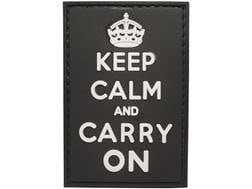 "5ive Star Gear Keep Calm PVC Morale Patch Black 1.75"" x 2.5"""