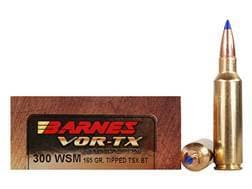Barnes VOR-TX Ammunition 300 Winchester Short Magnum (WSM) 165 Grain TTSX Polymer Tipped Spitzer ...