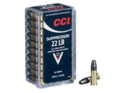 CCI Suppressor Ammunition 22 Long Rifle Subsonic 45 Grain Lead Hollow Point