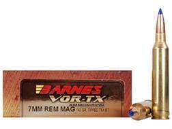 Barnes VOR-TX Ammunition 7mm Remington Magnum 140 Grain TTSX Polymer Tipped Spitzer Boat Tail Lea...