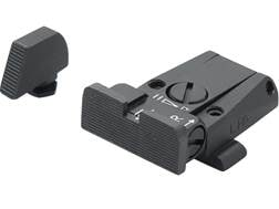 LPA SPR Adjustable Sight Set Glock 17, 19, 22, 23, 34, 35 Steel Blue