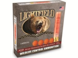 "Lightfield Wildlife Control Less Lethal Ammunition 410 Bore 2-1/2"" Rubber Buckshot 4 Pellets Box ..."