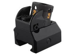 HK Detachable Fixed Rear Diopter Sight AR-15, MR556 Flat-Top Aluminum Matte