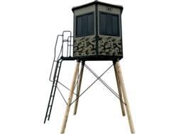 Hawk Watchtower Elevated Box Blind Polyethylene and Steel Camo