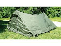 Military Surplus NATO 2 Man Tent with Ground Cover (1 Door) Grade 2 Olive Drab