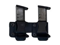 """Comp-Tac Twin Magazine Pouch 1.5"""" Belt Clip Kydex Black"""