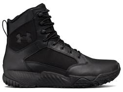 """Under Armour UA Stellar 8"""" Side Zip Tactical Boots Leather and Nylon Men's"""