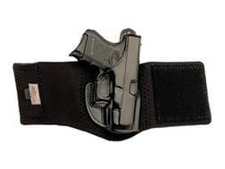 """Galco Ankle Glove Holster Right Hand S&W 36 2"""" Barrel Leather with Neoprene Leg Band Black"""