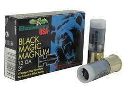 "Brenneke USA Black Magic Magnum Ammunition 12 Gauge 3"" 1-3/8 oz Lead Rifled Slug Box of 5"