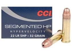 CCI Quik-Shok Ammunition 22 Long Rifle 32 Grain Plated Lead Hollow Point