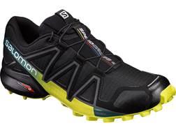 """Salomon Speedcross 4 4"""" Trail Running Shoes Synthetic Black/Sulphur Spring Men's 12.5 D"""