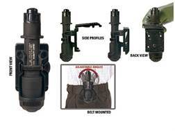 BLACKHAWK! Belt Holster fits Gladius Flashlight Polymer Black