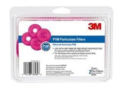 3M P100 Particulate Filters for 3M 6500 Respirator Package of 2