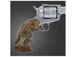 Hogue Fancy Hardwood Grips with Accent Stripe, Finger Grooves and Contrasting Butt Cap Ruger Blac...