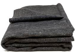 "Military Style Wool Blend Blanket Grade 1 Gray 84"" x 62"""