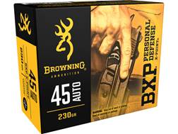 Browning BXP Personal Defense Ammunition 45 ACP 230 Grain X-Point Box of 20