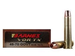 Barnes VOR-TX Ammunition 45-70 Government 300 Grain TSX Hollow Point Lead-Free Box of 20