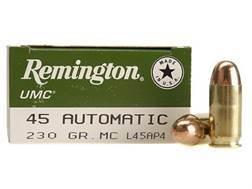 Remington UMC Ammunition 45 ACP 230 Grain Full Metal Jacket Box of 50