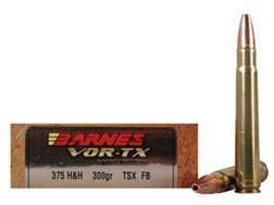 Barnes VOR-TX Safari Ammunition 375 H&H Magnum 300 Grain TSX Hollow Point Flat Base Lead-Free Box...