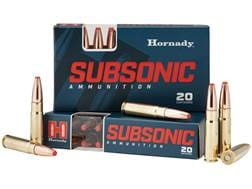 Hornady Subsonic Ammunition 300 AAC Blackout 190 Grain Sub-X Subsonic Flex Tip eXpanding Box of 20