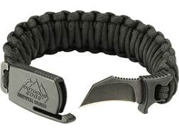 """Outdoor Edge Para-Claw Fixed Blade Knife Paracord Bracelet 1.5"""" Hawkbill 8Cr13MoV Stainless Steel..."""