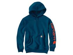 Carhartt Men's Signature Sleeve Hooded Logo Sweatshirt Cotton/Polyester