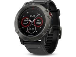 Garmin Fenix 5x GPS Watch with Silicone Band Black