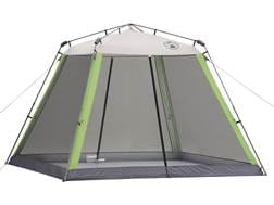 """Coleman Screened Canopy 120""""x120"""" Polyester White and Green"""