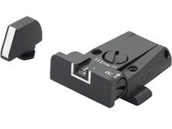 LPA SPR Adjustable Sight Set Glock 17, 19, 22, 23, 34, 35 Steel White Outline