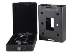 Bulldog Car Vault Lockbox with Key Lock Mounting Bracket Black