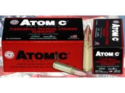 Atomic Tactical Cycling Subsonic Ammunition 7.62x39mm 220 Grain Hollow Point Boat Tail Box of 50