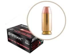 Streak Ammunition 40 S&W 180 Grain STRK Red Cold Tracer Box of 20
