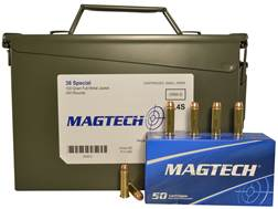 Magtech Sport Ammunition 38 Special 130 Grain Full Metal Jacket Ammo Can of 350 (7 Boxes of 50)
