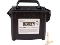 Dogtown Ammunition 223 Remington 53 Grain Tipped Flat Base Ammo Can of 200