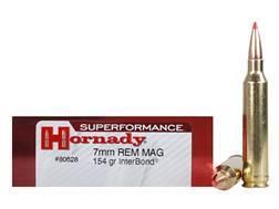 Hornady Superformance Ammunition 7mm Remington Magnum 154 Grain InterBond Boat Tail Box of 20