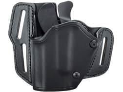 BLACKHAWK! GripBreak Belt Holster Left Hand Glock 17, 19, 22, 23, 26, 27 Leather Black