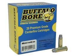 Buffalo Bore Ammunition Outdoorsman 38 Special +P 158 Grain Hard Cast Lead Semi-Wadcutter Box of 20