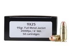 DoubleTap Ammunition 9x25mm Dillon 95 Grain Full Metal Jacket Box of 50