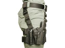 BLACKHAWK! Serpa Level 2 Tactical Thigh Holster Right Hand Glock 20, 21, 21SF, S&W M&P Polymer Black