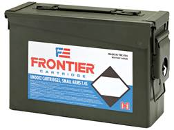 Frontier Cartridge Military Grade Ammunition 5.56x45mm NATO 62 Grain Hornady Spire Point Ammo Can...