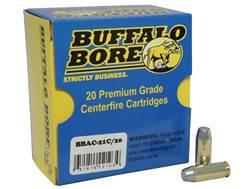 Buffalo Bore Ammunition Outdoorsman 10mm Auto 220 Grain Hard Cast Lead Flat Nose Box of 20