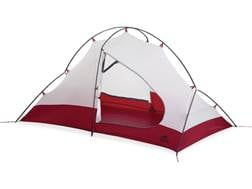 """MSR Access 2 Man Modified Dome Tent 84"""" x 50"""" x 42"""" Nylon and Polyester Red and White"""