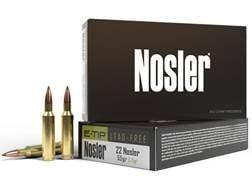 Nosler E-Tip Ammunition 22 Nosler 55 Grain E-Tip Lead-Free Box of 20