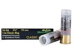 """Brenneke USA Classic Magnum Ammunition 16 Gauge 2-3/4"""" 1 oz Lead Rifled Slug Box of 5"""