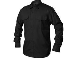 BLACKHAWK! Men's Pursuit Button-Up Shirt Long Sleeve Poly/Cotton Ripstop Black 3XL